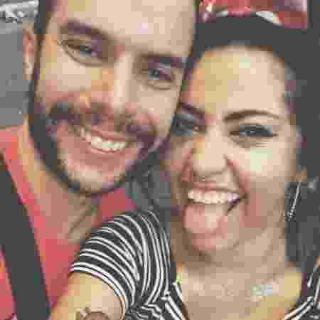 Amanda e Ricardo em sua primeira foto juntos - Arquivo Pessoal - Arquivo Pessoal