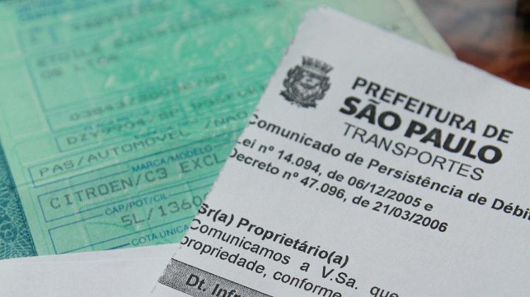 multa documento transferência veículo comunicado de venda multa de trânsito - Folhapress - Folhapress