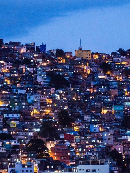 Vista geral da favela da Rocinha no Rio de Janeiro - Yasuyoshi Chiba/AFP