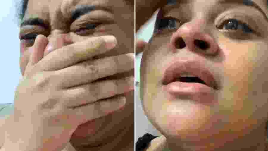 Rízia Cerqueira, do BBB 19, foi às lágrimas ao ver Thelma Assis campeã no BBB 20 - Reprodução/Instagram