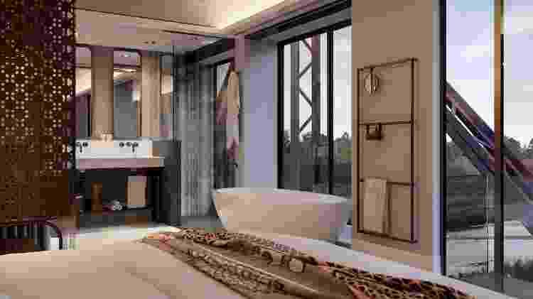 Interior do luxuoso hotel a ser inaugurado no início de 2020 - Divulgação - Divulgação