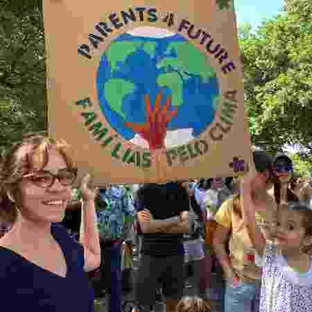 Protesto de Famílias em pról do meio-ambiente inspirada em Greta Thumberg - Arquivo pessoal - Arquivo pessoal