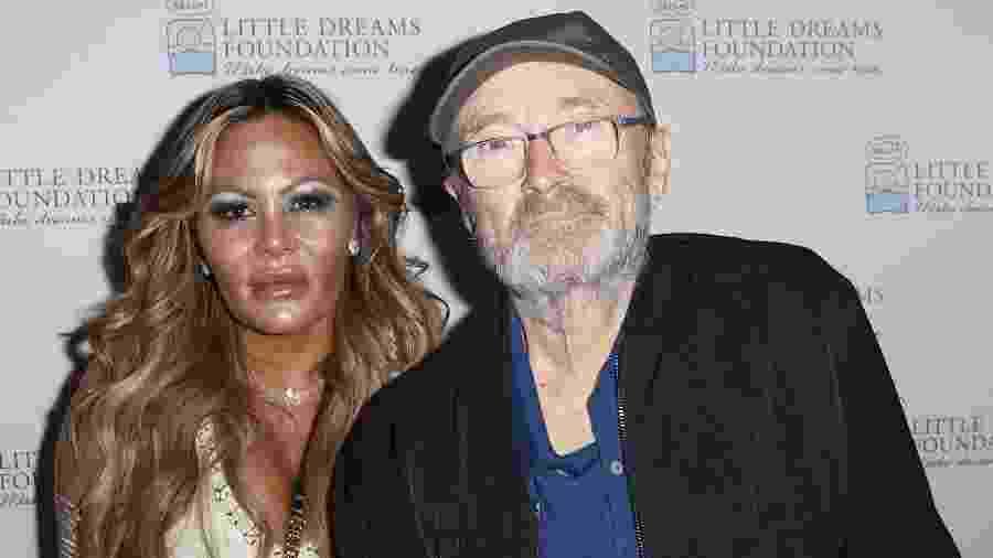 02.10.2018 - Orianne Cevey e Phil Collins, em evento em Miami (EUA) - John Parra/Getty Images