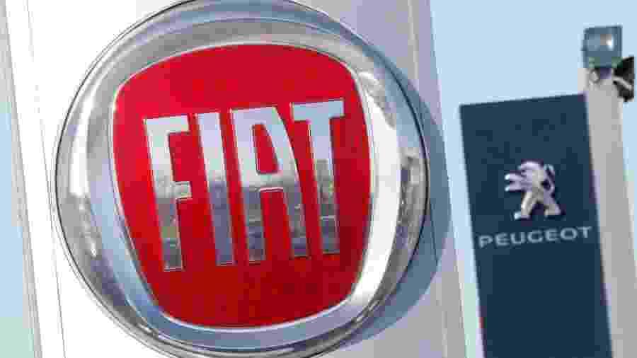 Logotipos da Fiat e da Peugeot - REUTERS/Stephane Mahe