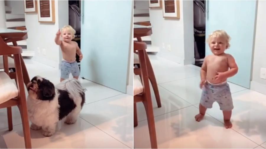 Bento, filho de Thammy Miranda e Andressa Ferreira, já está andando - Reprodução/Instagram