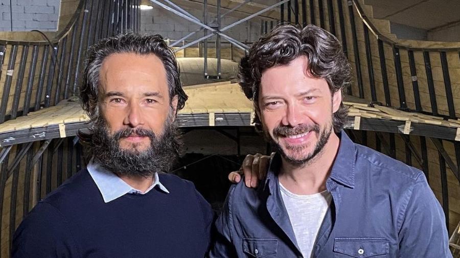 """Rodrigo Santoro e Álvaro Morte, de """"La Casa de papel"""", vão estrelar série - Reprodução/Instagram"""