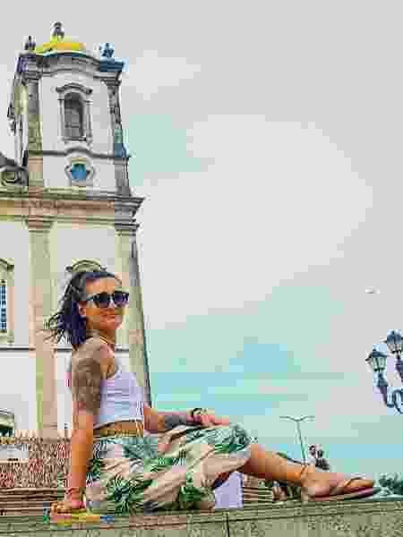 Roberta em Salvador, na Bahia - Arquivo pessoal - Arquivo pessoal