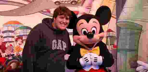 Felipe Hintze em uma de suas visitas à Disney - Arquivo pessoal
