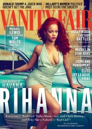 """Aos 27 anos, Rihanna posa para a edição de novembro da revista """"Vanity Fair"""" - Reprodução"""