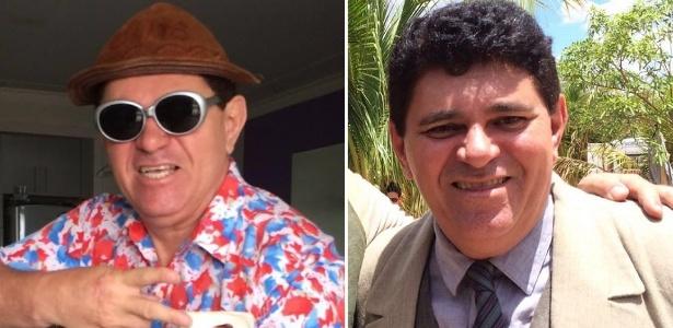 """O humorista Ivann Gomes como Batoré (à esquerda) e como delegado em """"Velho Chico"""" - Montagem/Ivann Gomes/Arquivo pessoal"""