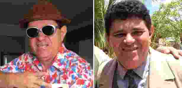 """O humorista Ivann Gomes como Batoré (à esquerda) e como delegado em """"Velho Chico"""" - Montagem/Ivann Gomes/Arquivo pessoal - Montagem/Ivann Gomes/Arquivo pessoal"""