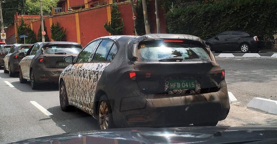 Fiat Tipo hatch já roda em testes pelo Brasil