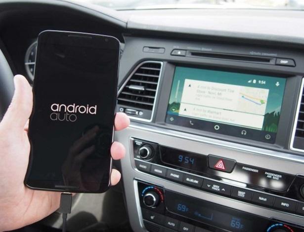Android Auto chega para ser alternativa ao Apple CarPlay a quem tem usa... Android - Divulgação