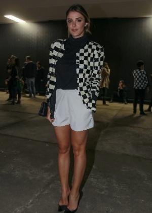 Rafa Brites comparece aos desfiles da São Paulo Fashion Week  - Leo Franco/AgNews