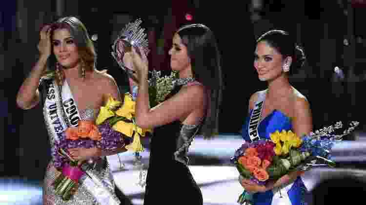 No Miss Universo 2015, um erro fez a candidata errada ser coroada como Rainha da Beleza - AFP - AFP