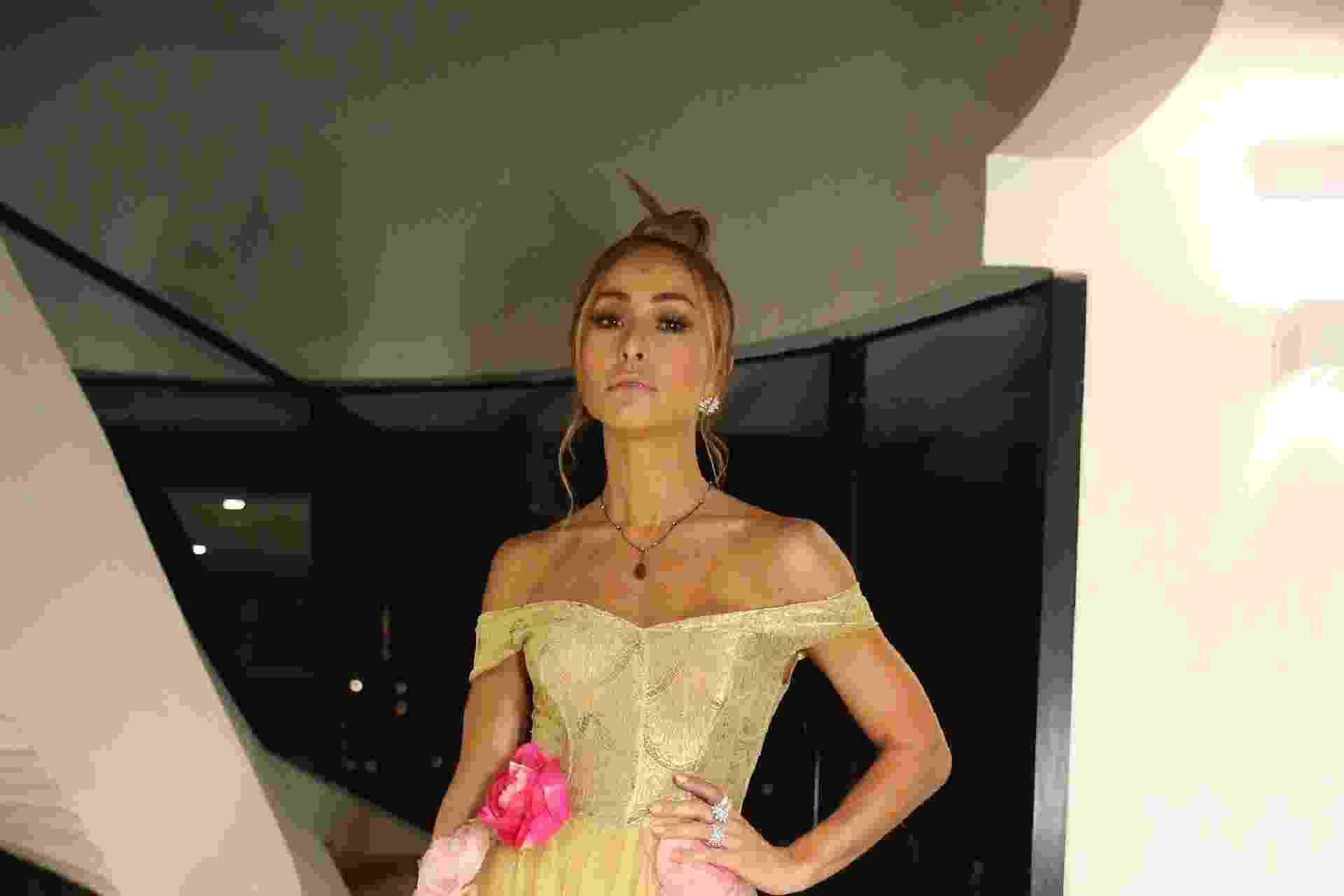 """Com um vestido inspirado em """"A Bela e a Fera"""", Sabrina Sato posa para fotos no Prêmio Geração Glamour, em São Paulo - Manuela Scarpa e Cláudio Augusto/Brazil News"""