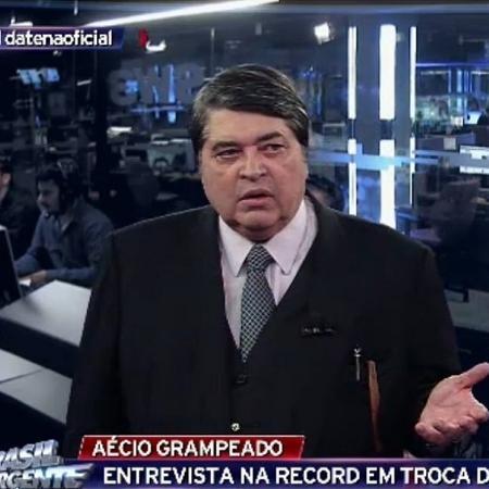"José Luiz Datena no ""Brasil Urgente"" - Reprodução/Band"