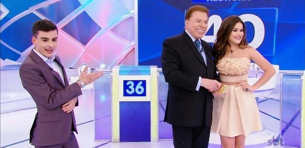 """Maisa e Dudu Camargo participaram do """"Programa Silvio Santos"""""""