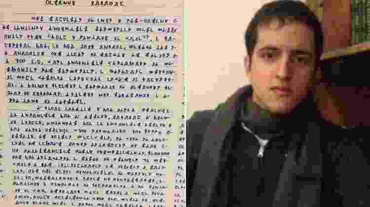 Estudante de psicologia deixou 14 volumes de uma obra criptografada - Reprodução - Reprodução