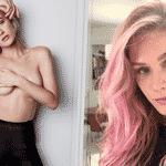 """A atriz pintou os cabelos de rosa para viver uma personagem na série """"Rua Augusta"""", no canal pago """"TNT"""". Na produção, ela interpreta uma stripper chamada Mika e, em seu site, Fiorella contou que foram mais de 12 horas pigmentando seus fios e colocando megahair com uma textura mais 'podrinha'. - Divulgação e Reprodução/Instagram"""