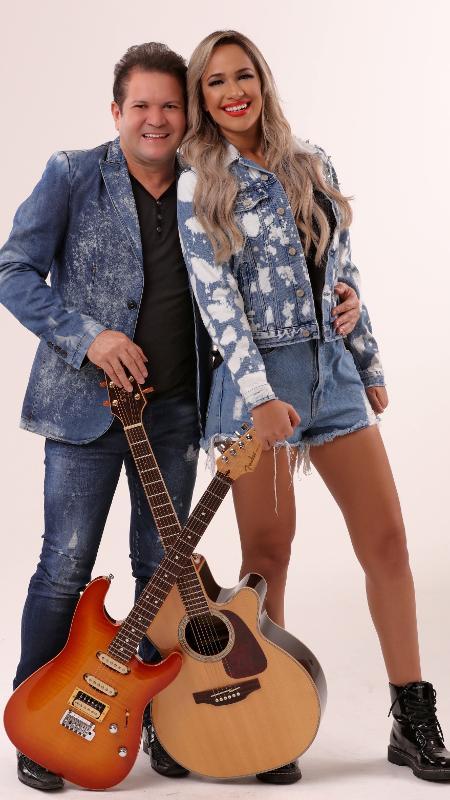 Ximbinha e Michele Andrade, da banda X - Divulgação