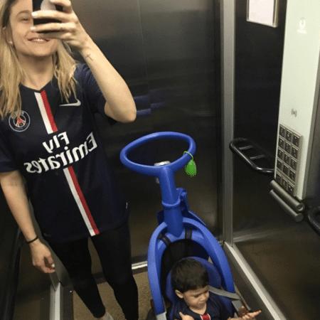 Fernanda Gentil e o filho, Gabriel - Reprodução/Instagram/FernandaGentil