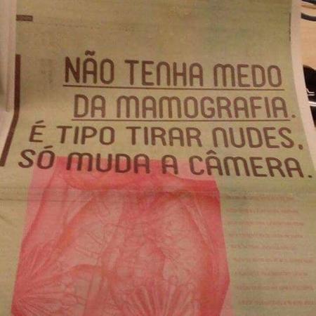 Anúncio da Ampla sobre mamografia - Reprodução/Facebook