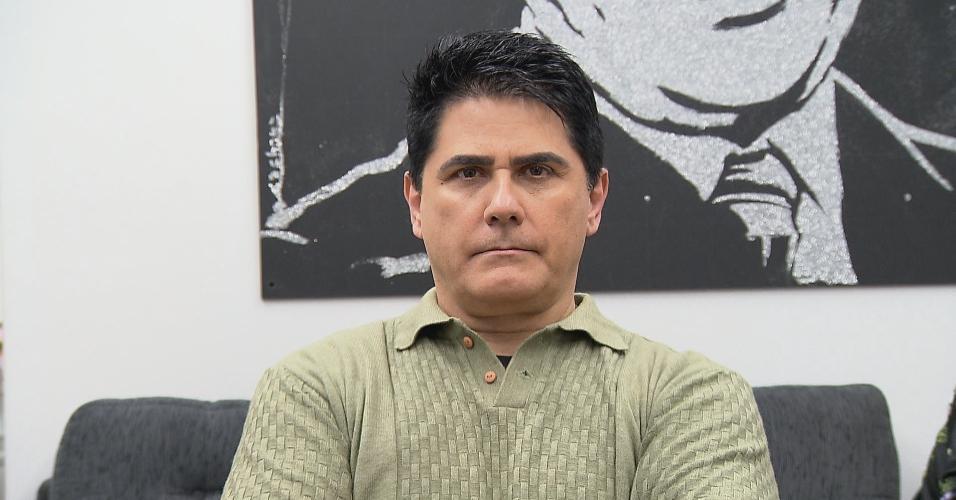 """César Filho antes de fazer a transformação para o quadro """"Teste da Vida Real"""", do Gugu. Programa vai ao ar nesta quarta"""