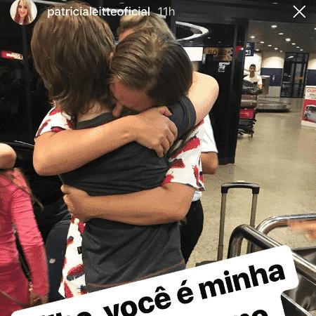 Ex-BBB Patrícia se emociona em reencontro com o filho no aeroporto - Reprodução/Instagram - Reprodução/Instagram