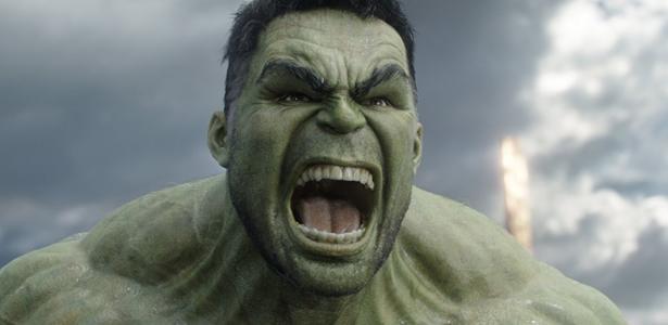 "Mark Ruffalo como Hulk em ""Thor: Ragnarok"""