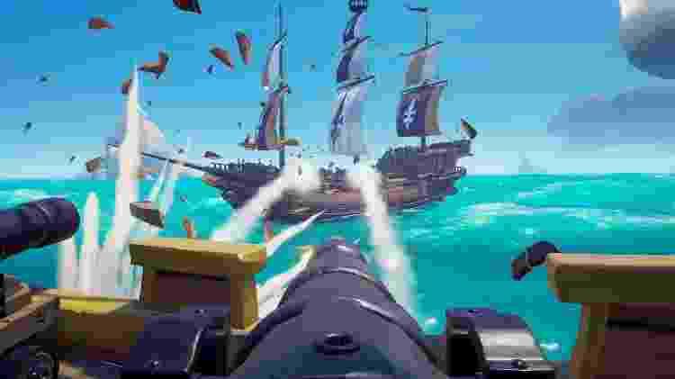 Batalhas navais contra outros grupos de jogadores fazem parte da brincadeira. - Divulgação
