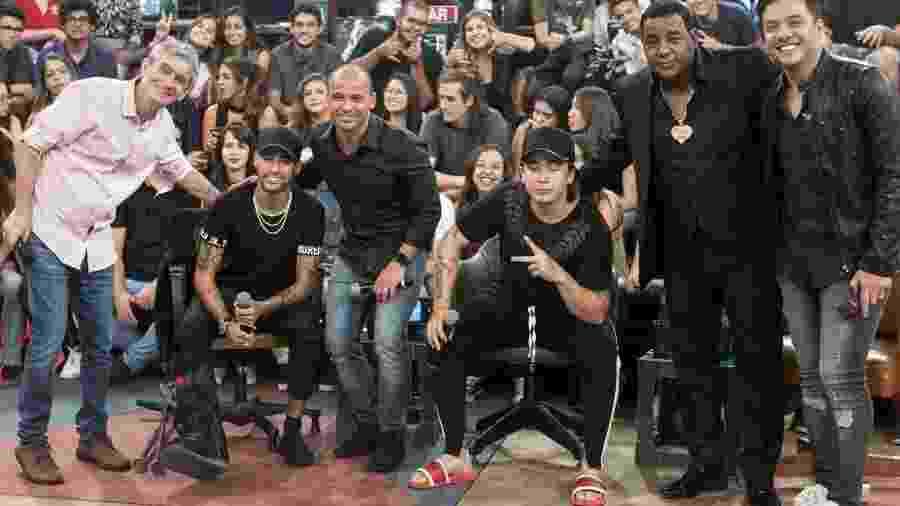 Whindersson no Altas Horas, com Neymar, Leo, Wesley Safadão e Raça Negra - Divulgação/Globo