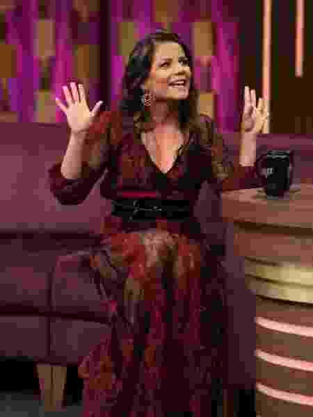 Nívea Stelmann no programa do Porchat - Antonio Chahestian/Record TV/Divulgação