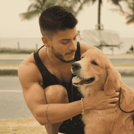 Arthur Aguiar e seu cão - Reprodução/Instagram