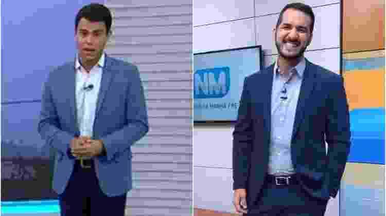 """Bruno Grubertt (à esq.), assume bancada do """"NE2"""", da Globo, e Leandro Oliveira (à dir.) comanda o """"Notícias da Manhã PE"""", do SBT - Reprodução/TV Globo/Instagram Montagem/UOL - Reprodução/TV Globo/Instagram Montagem/UOL"""