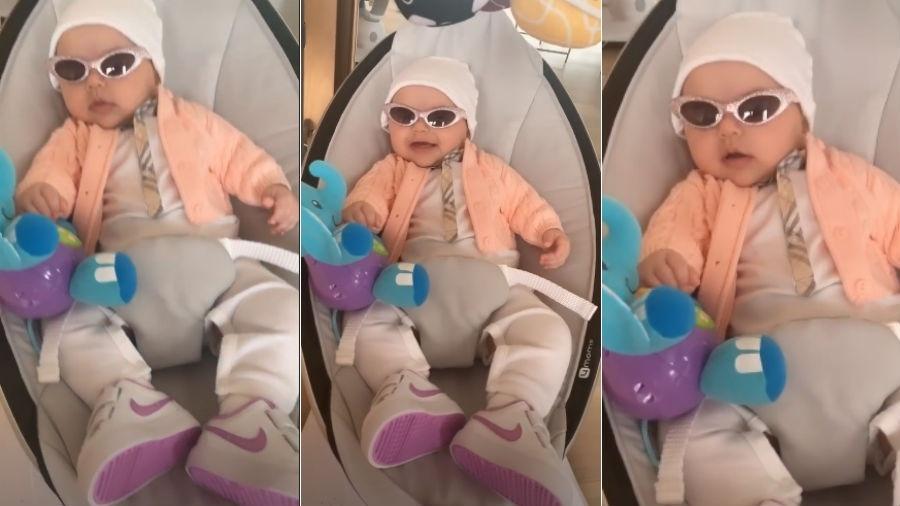 64ca1c84e Sabrina Sato exibe Zoe toda estilosa, de gorro, óculos escuros e tênis