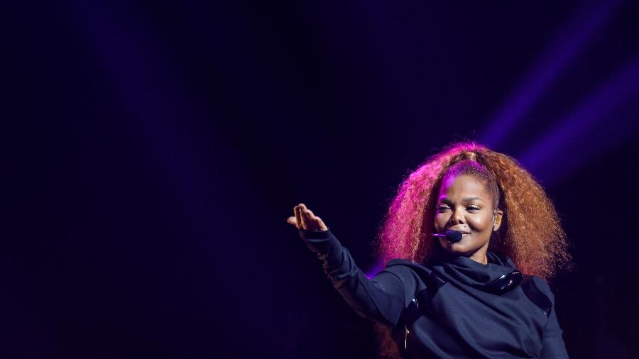 Janet Jackson durante show - AFP