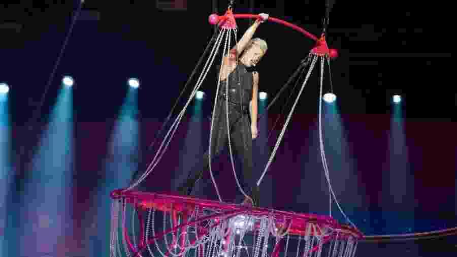 Pink durante show da turnê Beautiful Trauma na França - David Wolff-Patrick/Redferns
