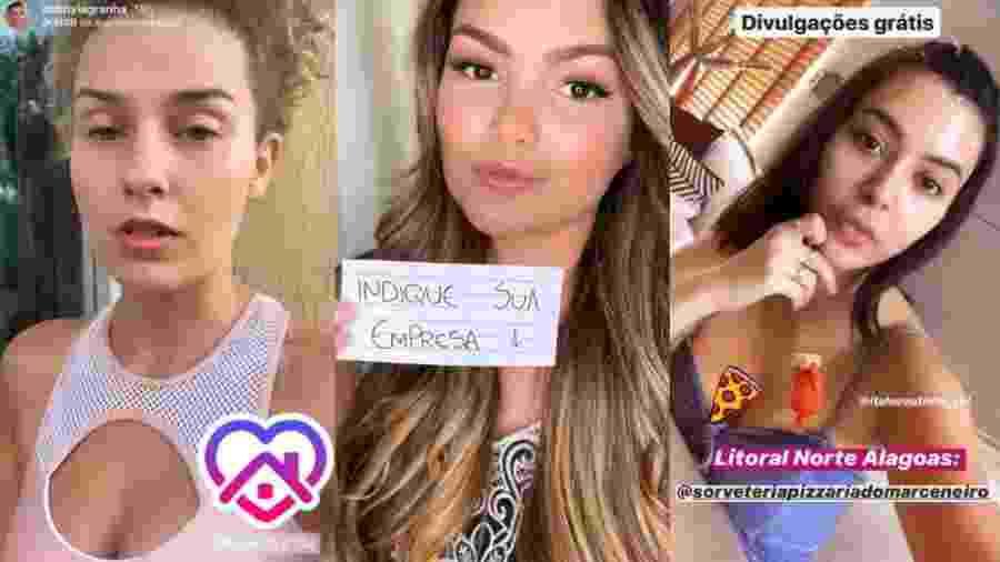 Suzanna Freitas, Gabriela Sales, mais conhecida como Rica de Marré e Debby Lagranha - Reprodução/Instagram
