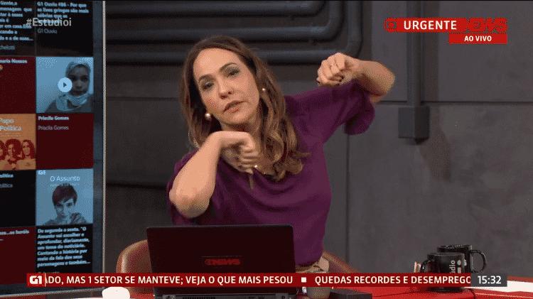 Maria Beltrão - Reprodução/GloboNews - Reprodução/GloboNews