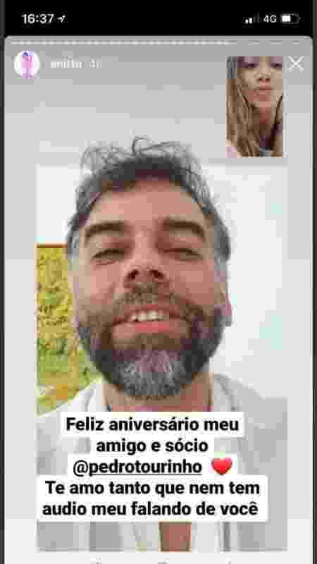 Anitta deseja feliz aniversário para Pedro Tourinho - Reprodução - Reprodução