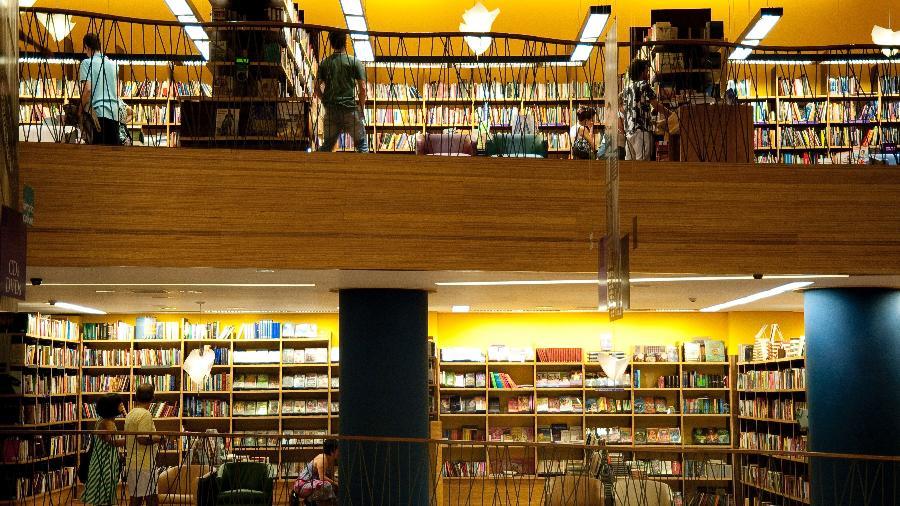 Loja da Livraria Cultura na avenida Paulista, em São Paulo, antes da crise - Paulo Fridman/Corbis via Getty Images