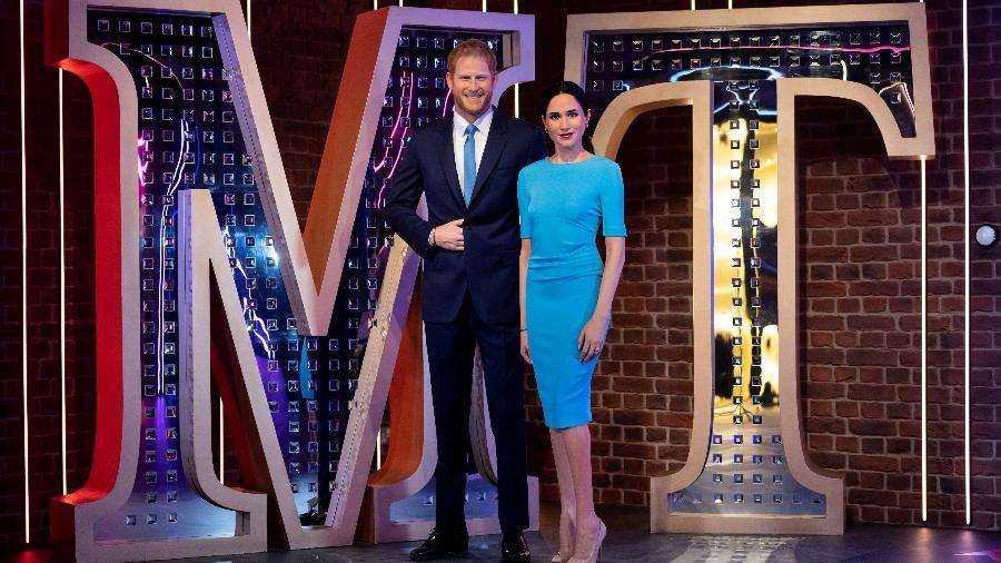 Madame Tussauds retira estátuas de príncipe Harry e Meghan de ala da realeza - via REUTERS