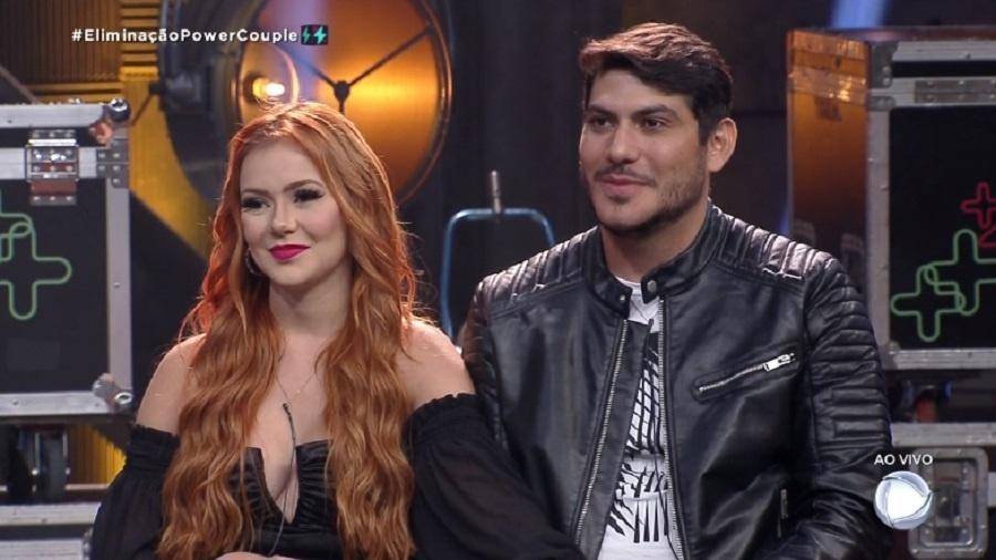Power Couple: Mirela Janis e Yugnir Ângelo na noite de eliminação - Reprodução/RecordTV
