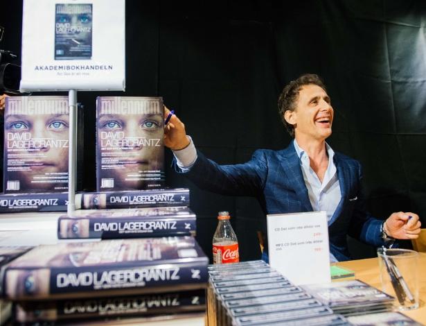 """27.ago.2015 - O escritor sueco David Lagercrantz, que lançou """"A Garota na Teia de Aranha"""", continuação da triologia Millennium - Jonathan Nackstrand/AFP"""