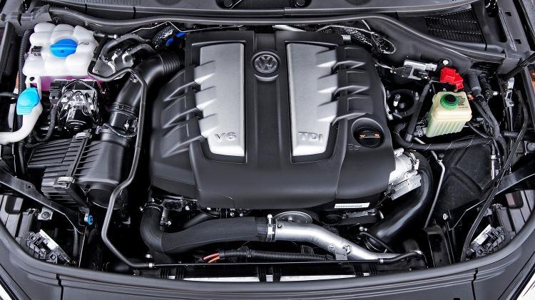 Volkswagen motor V6 TDI do Touareg Diesel - Divulgação - Divulgação