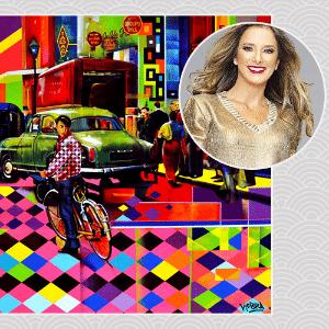 """""""Quero muito uma tela do Kobra. O trabalho dele é colorido, alegre, deixa São Paulo mais vibrante e viva. Adoraria essa energia toda na minha casa"""", Ticiane Pinheiro, apresentadora - Divulgação/ Kobra/ Arte UOL"""