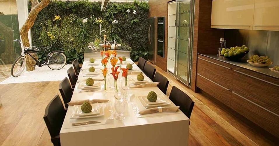 Casa Cor 2008 - Muros verdes, dentro e fora de casa: tendência forte na Casa Cor 2008