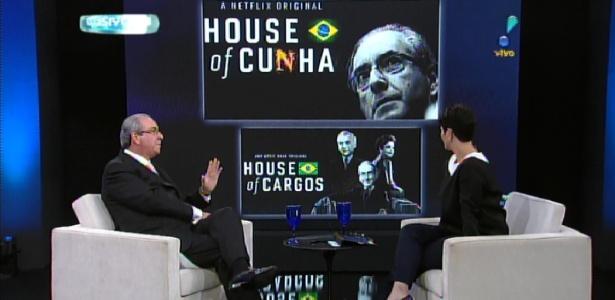"""20.mai.2016 - Eduardo Cunha fala sobre comparação com Frank Underwood, protagonista de """"House of Cards"""" - Reprodução /RedeTV!"""