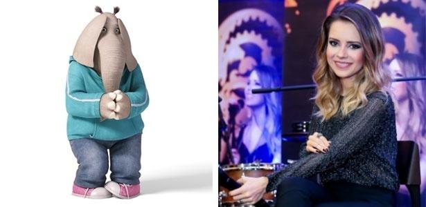 A cantora Sandy dubla a elefanta Meena na versão brasileira da animação
